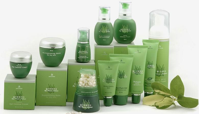 Серия Greens для зрелой увядающей кожи